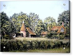 Acrylic Print featuring the painting The Old Farm by Rosemary Colyer