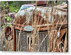 The Old Ford Tractor Acrylic Print by JC Findley