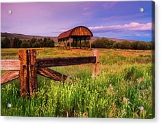 The Old Hay Barn Acrylic Print by John De Bord