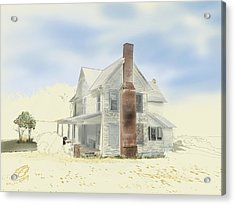 Acrylic Print featuring the painting The Home Place - Silent Eyes by Joel Deutsch