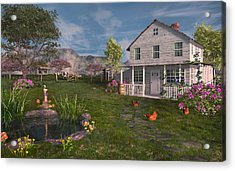 The Old Home Place Acrylic Print by Mary Almond