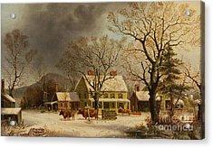 The Old Inn  Ten Miles To Salem Acrylic Print