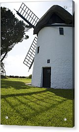 Acrylic Print featuring the photograph The Old Irish Windmill by Ian Middleton