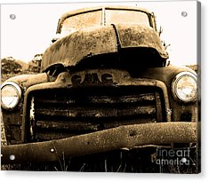 The Old Jalopy . 7d8396 Acrylic Print by Wingsdomain Art and Photography