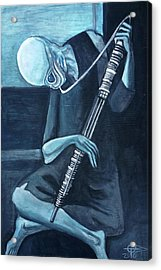 The Old Kloonhornist Acrylic Print by Tom Carlton