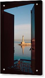 The Old Lighthouse In Chania Acrylic Print