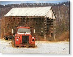 Acrylic Print featuring the photograph The Old Lumber Truck by Lori Deiter