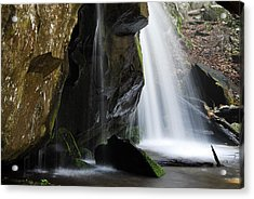 The Old Man Looking Down Acrylic Print by James Elam