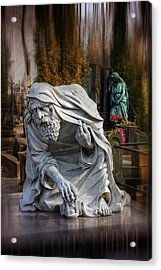 The Old Man Of Powazki Cemetery Warsaw  Acrylic Print by Carol Japp