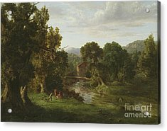 The Old Mill Acrylic Print by George Inness