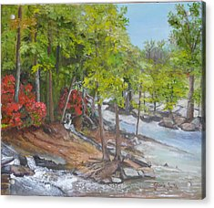 The Old Mill Acrylic Print by Gloria Smith
