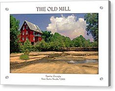 The Old Mill Acrylic Print by Peter Muzyka