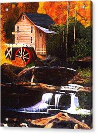 The Old Mill Stream Acrylic Print