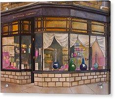 The Old Pharmacy Acrylic Print by Victoria Heryet