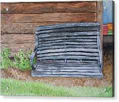 Acrylic Print featuring the painting The Old Porch Swing by Jean Haynes