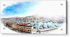 The Old Port Of Marseille  2 Acrylic Print