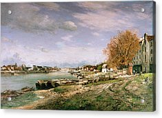 The Old Quay At Bercy Acrylic Print by Jean Baptiste Armand Guillaumin