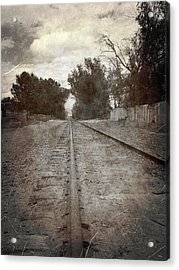 The Old Railroad Tracks Acrylic Print by Glenn McCarthy Art and Photography