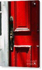 The Old Red Door Acrylic Print by Hideaki Sakurai