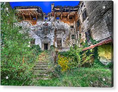 Acrylic Print featuring the photograph The Old Ruined Castle by Enrico Pelos