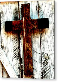 The Old Rusted Cross Acrylic Print
