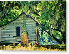 Acrylic Print featuring the photograph The Old Slaves Quarters by Jan Amiss Photography