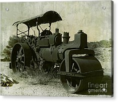 The Old Steam Roller Acrylic Print by Christo Christov