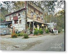 The Old Story Inn 1851 Nashville Indiana - Original Acrylic Print by Scott D Van Osdol