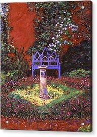The Old Sundial Acrylic Print by David Lloyd Glover