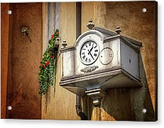 The Old Swiss Clock Geneva  Acrylic Print