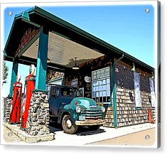 The Old Texaco Station Acrylic Print