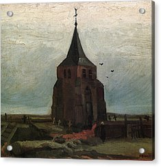 The Old Tower, 1884 Acrylic Print by Vincent Van Gogh