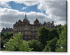 Acrylic Print featuring the photograph The Old Town In Edinburgh by Jeremy Lavender Photography