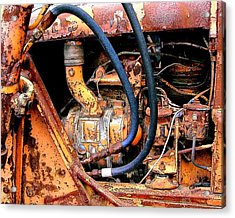 The Old Tractor  Acrylic Print by Linda Carroll