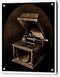 The Old Victrola Acrylic Print by Mark Fuller