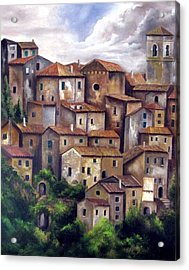 The Old Village Acrylic Print