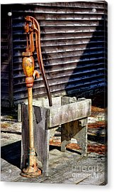 The Old Water Pump Acrylic Print by Olivier Le Queinec