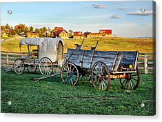 Acrylic Print featuring the photograph The Old West by Barbara Manis
