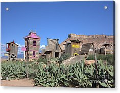 The Old Western Town  Acrylic Print