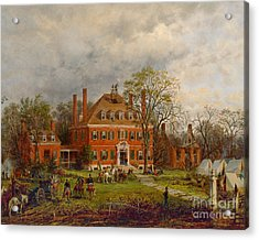 The Old Westover House Acrylic Print by Edward Lamson Henry