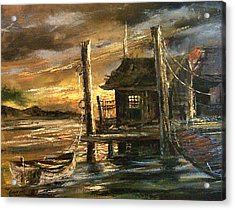 The Old Wharf Acrylic Print by Don Griffiths