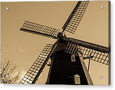 The Old Windmill Acrylic Print by Tommytechno Sweden
