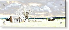 The Old Winter Homestead Acrylic Print