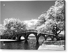 The Old Wood Bridge Acrylic Print
