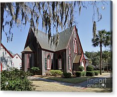 The Old Wooden Church Acrylic Print by Louise Heusinkveld