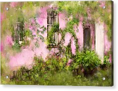 The Olde Pink House In Savannah Georgia Acrylic Print