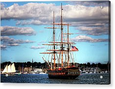Acrylic Print featuring the photograph Tall Ship The Oliver Hazard Perry by Tom Prendergast