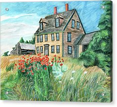 The Olson House With Poppies Acrylic Print