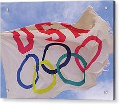 The Olympic Flag Acrylic Print