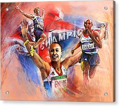 The Olympics Night Of Gold Acrylic Print